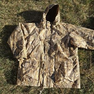 Columbia Delta Hunter Marsh Hunting 2XL Camo Coat